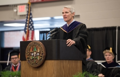 Sen. Rob Portman Speaks on Ohio Values at AU Commencement