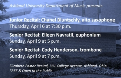 AU Instrumentalists Present Junior and Senior Recitals