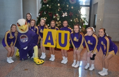 Ashland University's Mascot and Cheer Squad Participates in Mascot Day at Statehouse