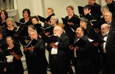 The Ashland Area Chorus, a non-auditioned mixed choir of about 65 singers.