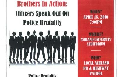 "AU Event to Feature Area Law Enforcement Officers ""Speaking Out on Police Brutality"""