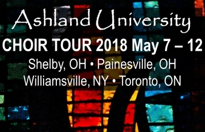 Choir Tour 2018, May 7-12: Shelby, Painesville, Williamsville NY & Toronto