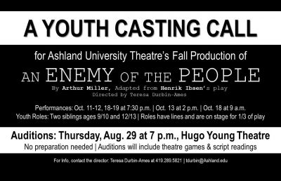 Community Youth Casting Call Slated for Aug. 29