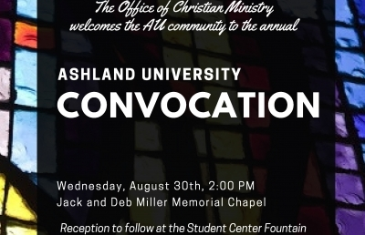 Ashland University Convocation to be Held Aug. 30