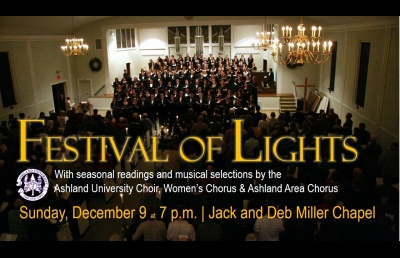 Festival of Lights Holiday Service Set for Dec. 9