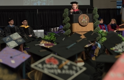Commencement Speaker Provides Advice for AU Graduates
