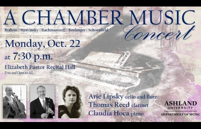 Maestro Lipsky, Dr. Reed and Award-Winning Pianist Present Chamber Ensemble Concert