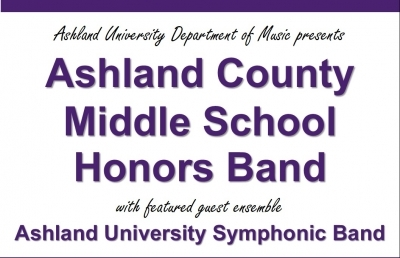 Band Concert Honors Area Middle School Instrumentalists