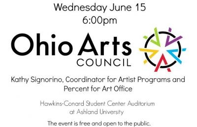 Ashland University Event to Feature Presentation by Coordinator with Ohio Arts Council