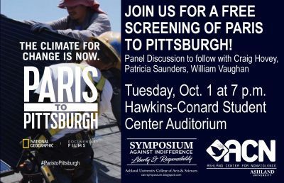 Film Screening of National Geographic's Documentary on Efforts Battling Climate Change – 'Paris to Pittsburgh'