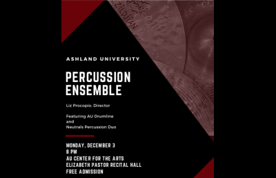 Percussion, Fall Honors & Student Ensemble Recitals Close Fall Semester