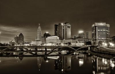 "Johnny Runciman of Columbus had his black and white photograph, titled ""Dark Columbus,"" selected as Best of Show."