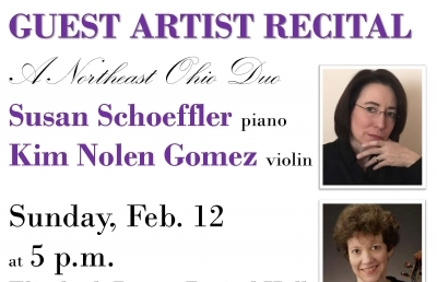 Piano/Violin Duo and Trumpet Recitals Slated for February