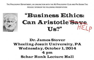 Ashland University Philosophy Department Sets Business Ethics Colloquium
