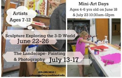 Coburn Art Gallery to Hold Summer Art Camps
