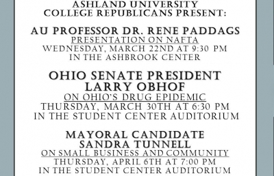 Ashland University College Republicans to Hold Speaker Series