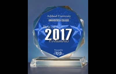 Ashland University Receives 2017 Best of Columbus Award