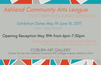 Ashland Community Arts League Juried Exhibition: Call for Entries