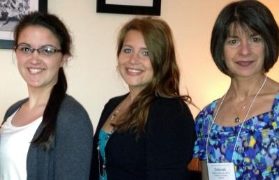 Dr. Deborah Sullivan poses with AU students Rachel Adalem and Samantha Largent (left).