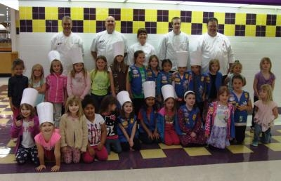 Ashland University Holds Girls Scout Cooks Camp
