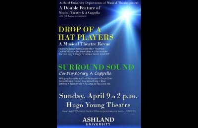 Ashland University A Cappella and Musical Theatre Troupes Join Forces for Concert