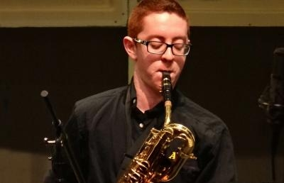 Ashland University Jazz Orchestra's Shayne Smith, baritone saxophone