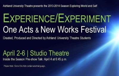 AU Theatre Closes Season with One Acts & New Works Festival
