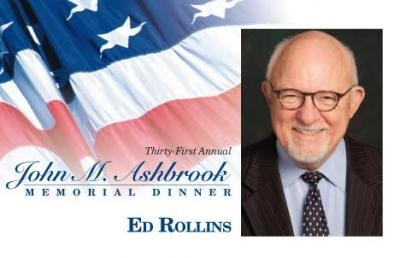 Fox News Commentator Ed Rollins to Speak at Ashbrook Memorial Dinner on April 27