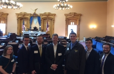 AU Student Senate Members Visit Ohio Statehouse