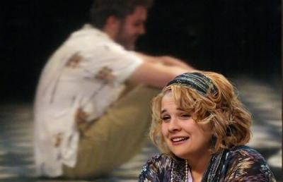 "Aaron Arnold and Johanna Regan appear in Ashland University Theatre's fall 2011 production of Annie Baker's ""Circle Mirror Transformation."""