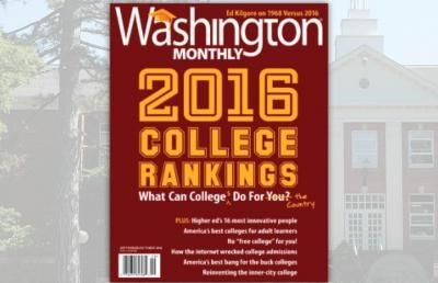Ashland University Ranked as a Top Ohio College in Washington Monthly Rankings