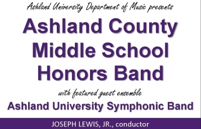 Ashland County Middle School Musicians Honored at AU Concert