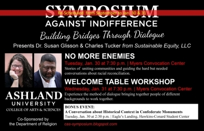 No More Enemies and Welcome Tables Are Focus for AU Symposium Speakers