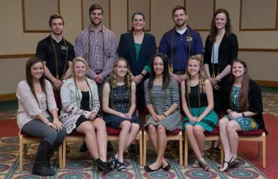 College of Nursing & Health Sciences Honors Students with Banquet