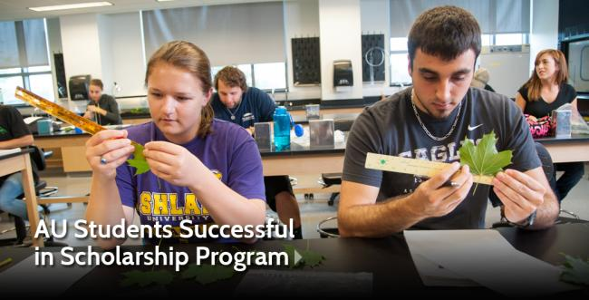 AU Environmental Science Students See Success in State Merit Scholarship Program