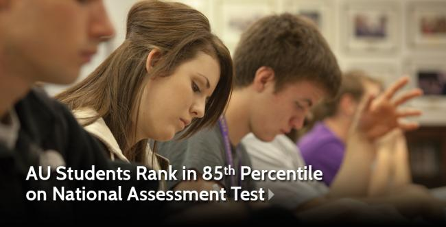 AU Students Rank in 85th Percentile  on National Assessment Test