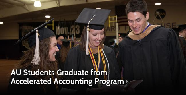 Students Graduate from New Accelerated Accounting Program