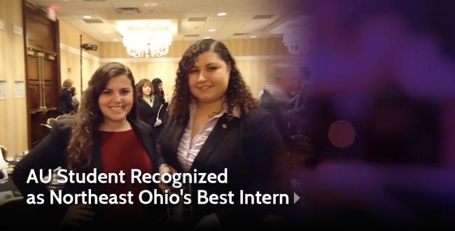 Ashland University Student Recognized as Northeast Ohio's Best Intern