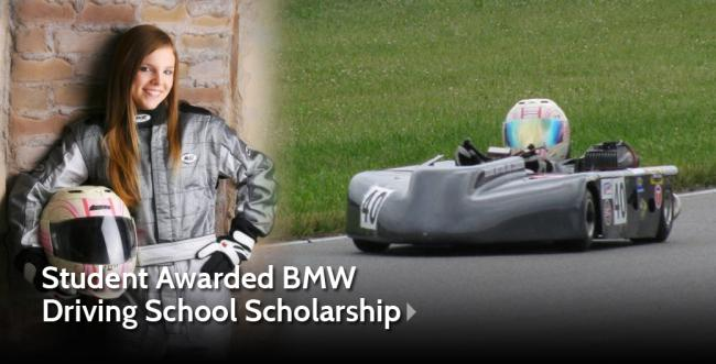 AU Student Awarded BMW Driving School Scholarship