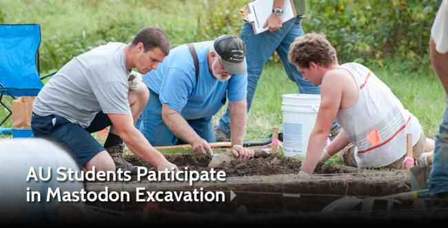 AU Students Participate in Mastodon Excavation