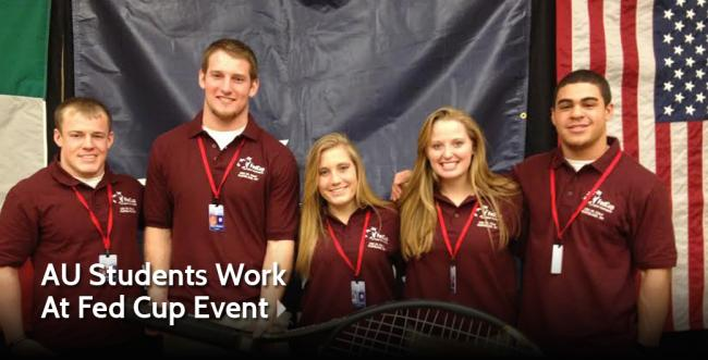 Ashland University Students Volunteer at Fed Cup Event