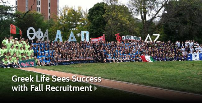 AU Greek Life Sees Great Success with Fall Recruitment