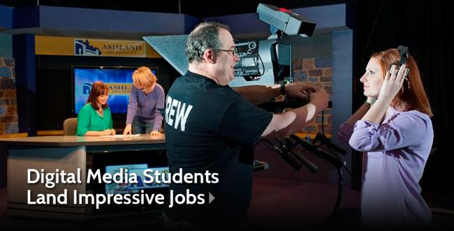 Two Ashland University Digital Media Students Land Impressive Jobs