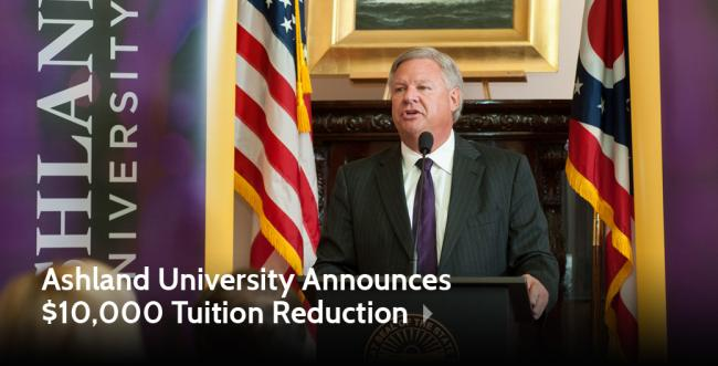 Ashland University Announces $10,000 Tuition Reduction