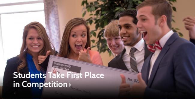Ashland University Team Takes First Place in Entrepreneurship Competition