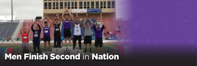 Men's Track and Field Team Finish as National Runner-up