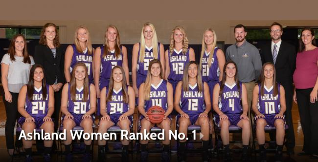 Ashland Women Ranked No. 1 in the Nation